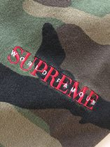 Supreme Camouflage Henry Neck Street Style Cotton Short Sleeves Logo