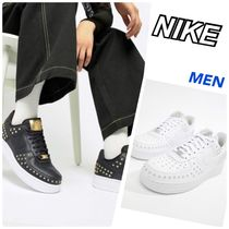 Nike AIR FORCE 1 Star Studded Street Style Plain Sneakers