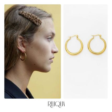 Unisex Street Style 18K Gold Elegant Style Co-ord Earrings
