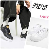 Nike AIR FORCE 1 Star Casual Style Studded Street Style Plain