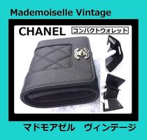 CHANEL TIMELESS CLASSICS Unisex Leather Folding Wallet Small Wallet Folding Wallets