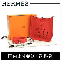 HERMES Evelyne Leather Shoulder Bags