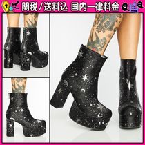 DOLLS KILL Star Platform Round Toe Casual Style Bi-color