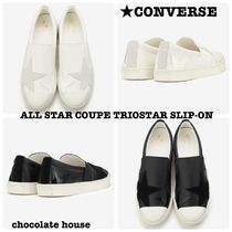 CONVERSE ALL STAR Star Unisex Plain Leather Loafers & Slip-ons