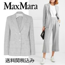 MaxMara Glen Patterns Wool Elegant Style Jackets