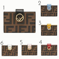 FENDI Monogram Leather Card Holders