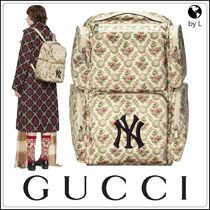 GUCCI Flower Patterns A4 Backpacks