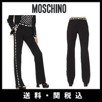 Moschino Casual Style Plain Long Wide Leg Pants