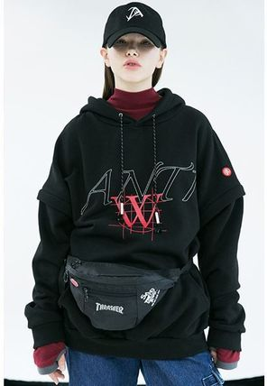 ANOTHERYOUTH Hoodies Unisex Street Style Long Sleeves Cotton Oversized Hoodies 2
