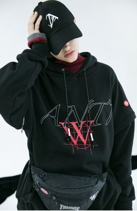 ANOTHERYOUTH Hoodies Unisex Street Style Long Sleeves Cotton Oversized Hoodies 10