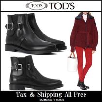 TOD'S Rubber Sole Leather Chelsea Boots Ankle & Booties Boots