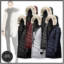 CANADA GOOSE LORETTE Fur Street Style Plain Medium Bold Down Jackets