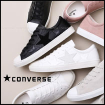 CONVERSE ALL STAR Star Plain Toe Casual Style Unisex Street Style Leather