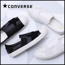 CONVERSE ALL STAR Star Plain Toe Rubber Sole Casual Style Unisex Street Style