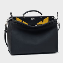 FENDI PEEKABOO A4 2WAY Plain Leather Business & Briefcases