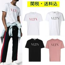 VALENTINO Crew Neck Plain Cotton Short Sleeves Crew Neck T-Shirts