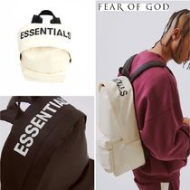FEAR OF GOD ESSENTIALS Unisex Nylon Street Style A4 Plain Backpacks