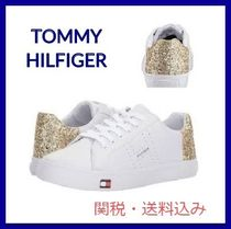 Tommy Hilfiger Round Toe Rubber Sole Lace-up Casual Style Faux Fur