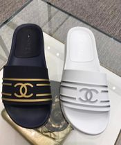 CHANEL Unisex Street Style Shower Shoes Shower Sandals