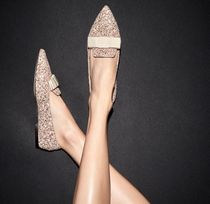 Jimmy Choo Plain Glitter Pointed Toe Shoes