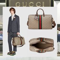 GUCCI Ophidia Stripes Unisex Canvas A4 Backpacks