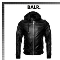BALR Short Street Style Plain Leather Biker Jackets