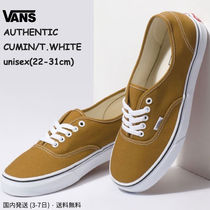 VANS AUTHENTIC Rubber Sole Casual Style Unisex Street Style Plain