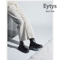 Eytys Plain Toe Unisex Plain Leather Boots