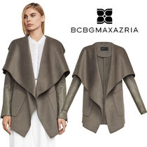 BCBG MAXAZRIA Wool Plain Wrap Coats