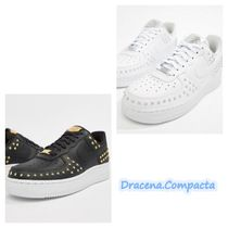 Nike AIR FORCE 1 Casual Style Faux Fur Studded Street Style Plain