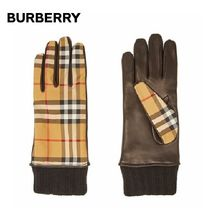 Burberry Other Check Patterns Leather Leather & Faux Leather Gloves