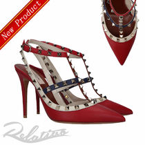 VALENTINO Studded Leather Pin Heels Elegant Style