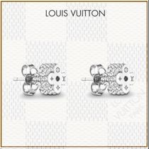 Louis Vuitton Blended Fabrics Flower With Jewels Elegant Style
