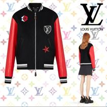 Louis Vuitton Short Wool Blended Fabrics Elegant Style Jackets
