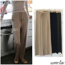 Casual Style Wool Plain Long Bottoms
