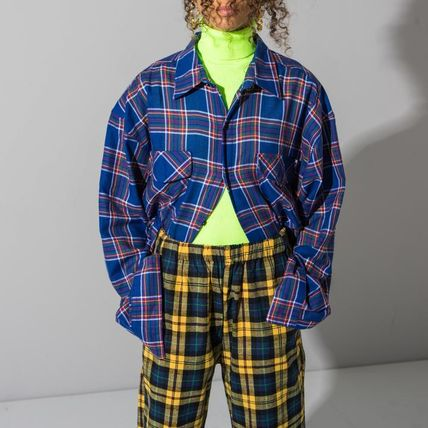 Other Plaid Patterns Casual Style Street Style Oversized