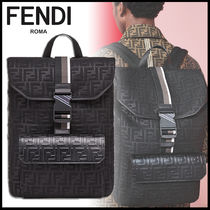 FENDI Monogram Calfskin A4 Backpacks