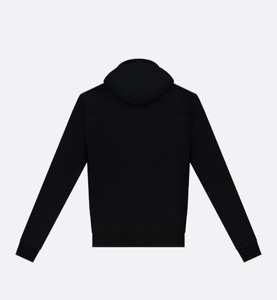 Christian Dior Hoodies Street Style Long Sleeves Plain Cotton Hoodies 4