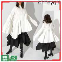 Oh Hey Girl Street Style Plain Medium Elegant Style Super-long Sleeves
