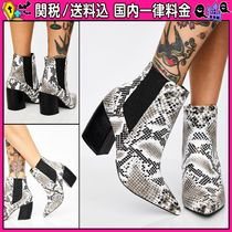 DOLLS KILL Casual Style Faux Fur Python Ankle & Booties Boots