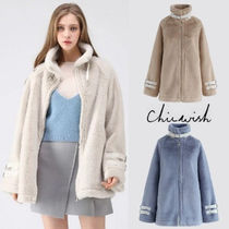 Chicwish Short Casual Style Wool Plain Jackets