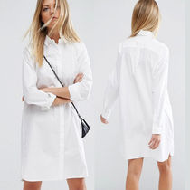 ASOS Casual Style Long Sleeves Plain Cotton Shirts & Blouses