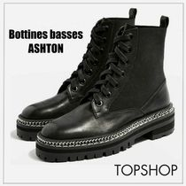 TOPSHOP Platform Plain Toe Casual Style Blended Fabrics Street Style
