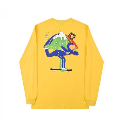 HELAS Long Sleeve Crew Neck Pullovers Unisex Street Style Long Sleeves Cotton 2