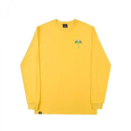 HELAS Long Sleeve Crew Neck Pullovers Unisex Street Style Long Sleeves Cotton 4