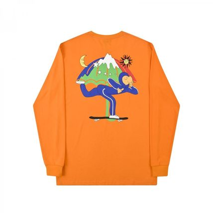 HELAS Long Sleeve Crew Neck Pullovers Unisex Street Style Long Sleeves Cotton 7