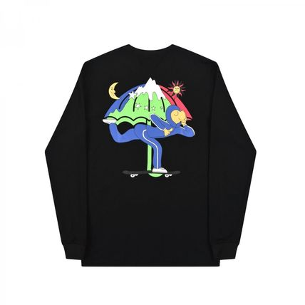 HELAS Long Sleeve Crew Neck Pullovers Unisex Street Style Long Sleeves Cotton 11