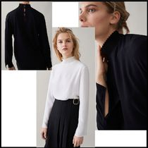 Massimo Dutti Plain Medium Elegant Style Puff Sleeves Shirts & Blouses