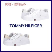 Tommy Hilfiger Star Round Toe Rubber Sole Casual Style Faux Fur Studded
