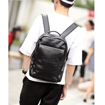Faux Fur Street Style A4 2WAY Plain Backpacks